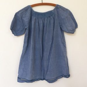 ✨Ralph Lauren Blue Linen Peasant Blouse